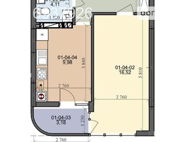 Продажа однокомнатной квартиры в Львове, на ул. Трускавецкая район Франковский фото 1