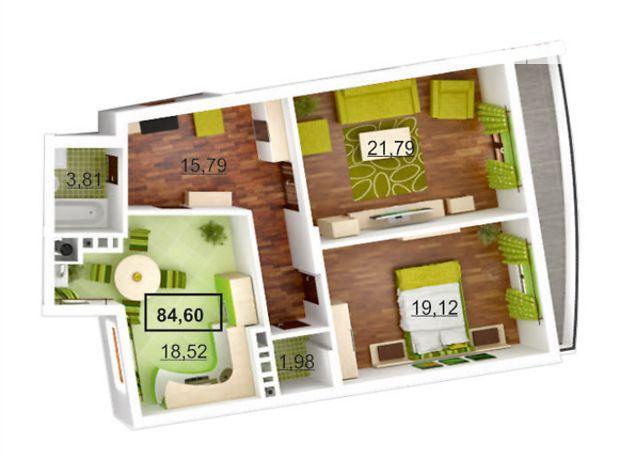 Продажа квартиры, 2 ком., Львов, р‑н.Лычаковский, Липовая аллея