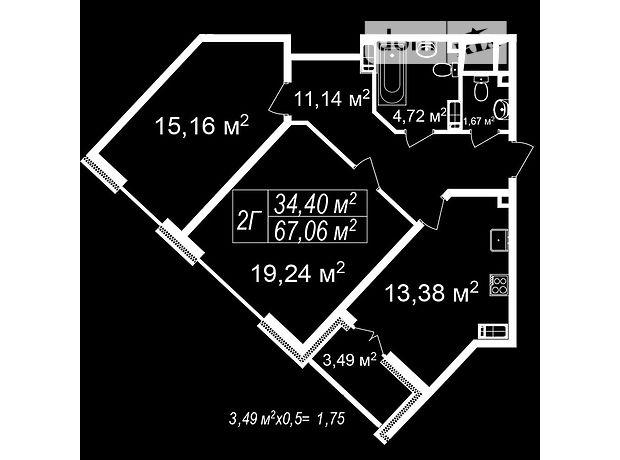 Продаж двокімнатної квартири в Львові на просп. Чорновола В'ячеслава район Шевченківський фото 2