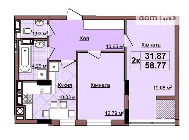 Продажа квартиры, 2 ком., Львов, р‑н.Шевченковский, Малоголоскивская улица, дом 12