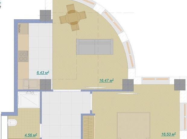 Продажа однокомнатной квартиры в Одессе, на ул. Педагогическая район Аркадия фото 1