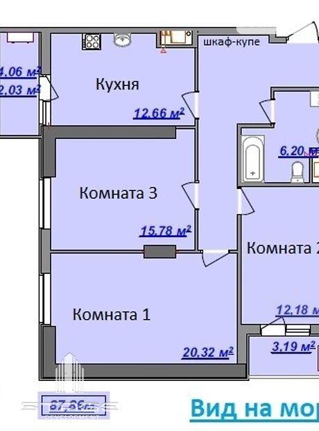 Продажа трехкомнатной квартиры в Одессе, на ул. Дача Ковалевского 5,, кв. 155, район Большой Фонтан фото 1