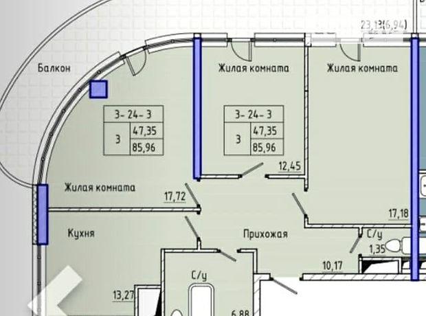 Продажа трехкомнатной квартиры в Одессе, на Фонтанская дорога 7 ст район Большой Фонтан фото 1