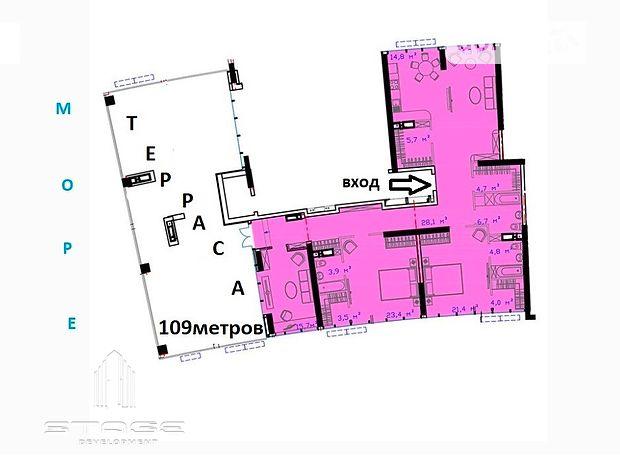 Продаж чотирикімнатної квартири в Одесі на дор. Південна 3 район Фонтанка фото 1