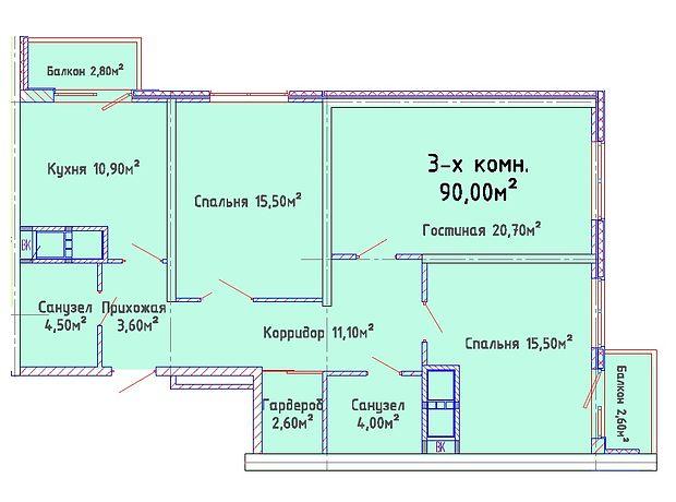 Продаж квартири, 3 кім., Одесса, р‑н.Киевский, Дмитрия Донского улица