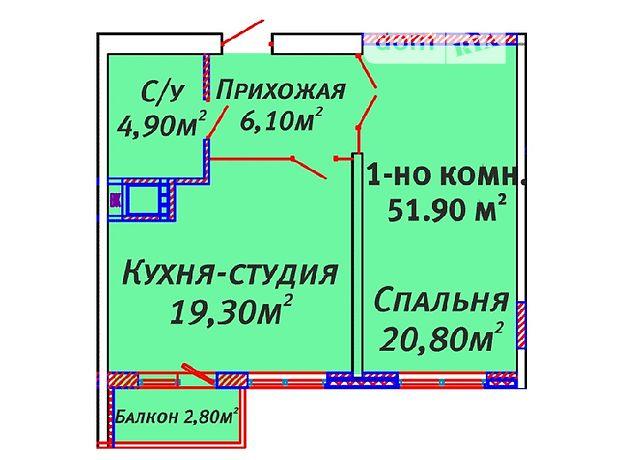 Продаж квартири, 1 кім., Одесса, р‑н.Київський, Люстдорфская дорога
