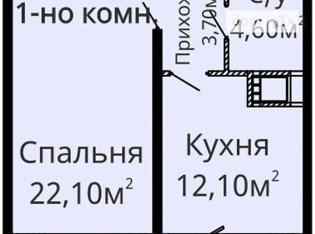 Продаж квартири, 1 кім., Одеса, р‑н.Київський, Люстдорфська дорога, буд. 90