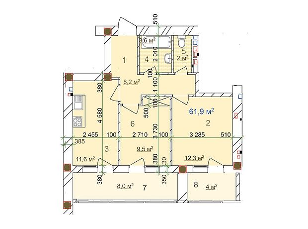 Продажа квартиры, 2 ком., Одесса, р‑н.Малиновский, Плиева улица