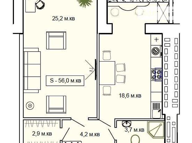 Продажа двухкомнатной квартиры в Одессе, на ул.Старицкого район Малиновский фото 1