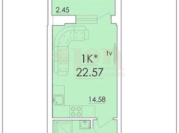 Продаж квартири, 1 кім., Одеса, р‑н.Містечко Котовського, Генерала Бочарова вулиця, буд. 67