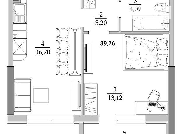 Продаж квартири, 1 кім., Одеса, р‑н.Таїрова