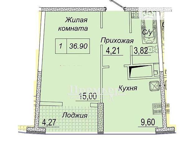 Продажа однокомнатной квартиры в Одессе, на ул. Каманина район Центр фото 1