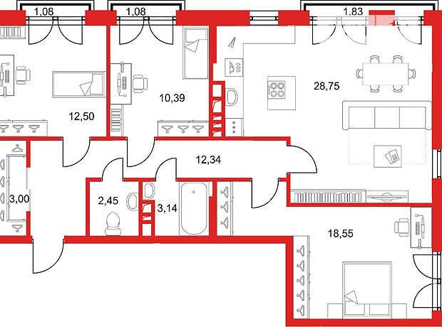 Продажа трехкомнатной квартиры в Одессе, на ул. Малая Арнаутская район Центр фото 1