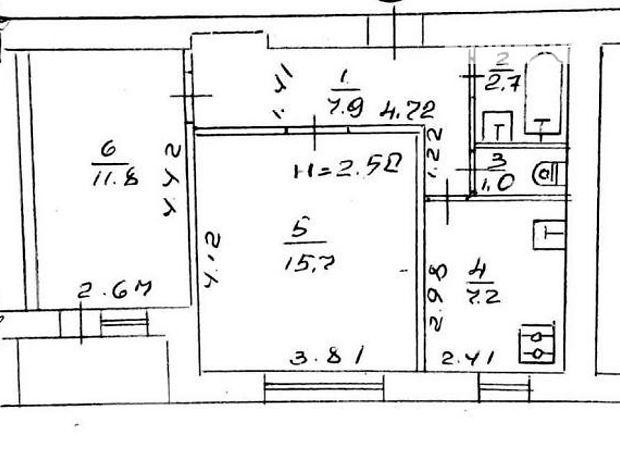 Продаж квартири, 2 кім., Полтава, р‑н.Інститут зв'язку