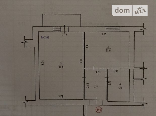 Продаж квартири, 1 кім., Полтава, р‑н.Левада, Хмельницкого Богдана бульвар, буд. 12а