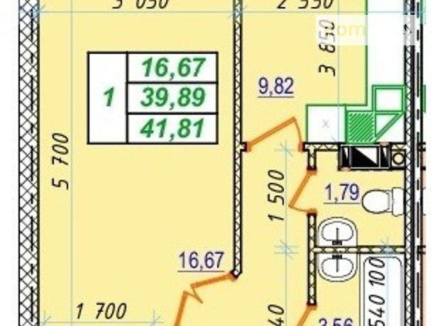 Продажа однокомнатной квартиры в Полтаве, на ул. Кременчугская 54Б,, кв. 20, район Россошенцы фото 1