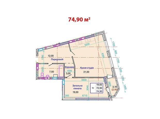 Продажа однокомнатной квартиры в Полтаве, район Центр фото 1