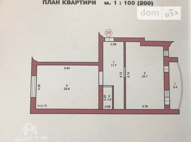 Продажа квартиры, 3 ком., Львовская, Стрый, р‑н.Стрый, Багряного Івана вулиця