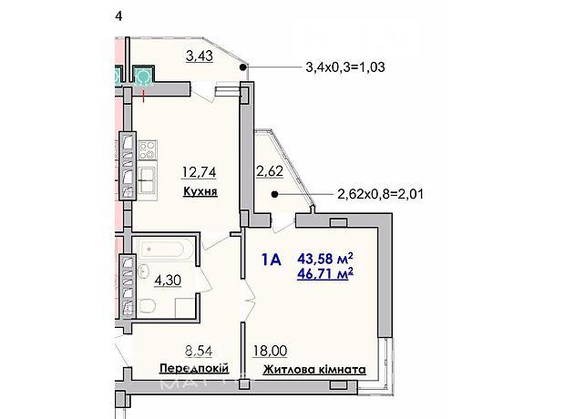Продажа квартиры, 1 ком., Львовская, Стрый, р‑н.Стрый, Сагайдачного вулиця