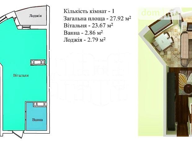 Продаж однокімнатної квартири в Тернополі на вул. Київська 8, район Бам фото 1