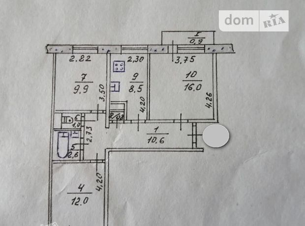 Продажа трехкомнатной квартиры в Тернополе, на Київська  район Бам фото 1