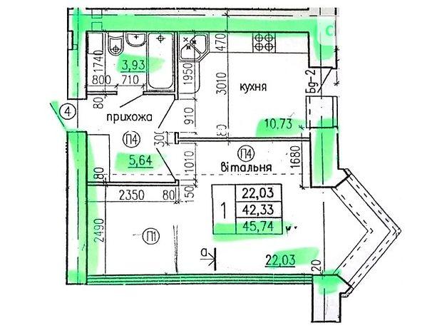 Продажа однокомнатной квартиры в Тернополе, на КИЇВСЬКА -ТАРНАВСЬКОГО район Бам фото 1