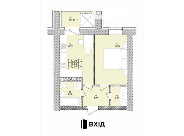 Продажа однокомнатной квартиры в Тернополе, на ул. Королева район Байковцы фото 1