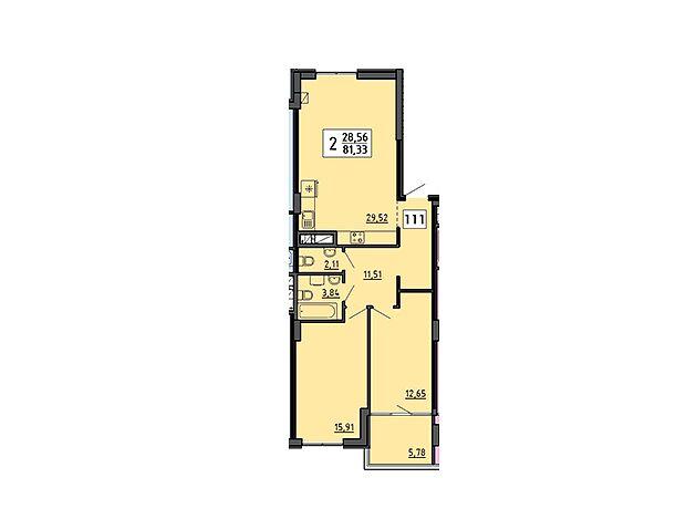 Продажа двухкомнатной квартиры в Тернополе, на ул. Мира район Дружба фото 1