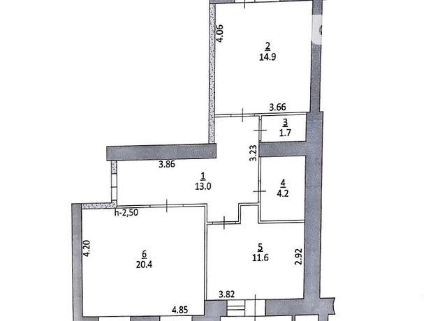Продажа двухкомнатной квартиры в Тернополе, на ул. Троллейбусная район Дружба фото 2
