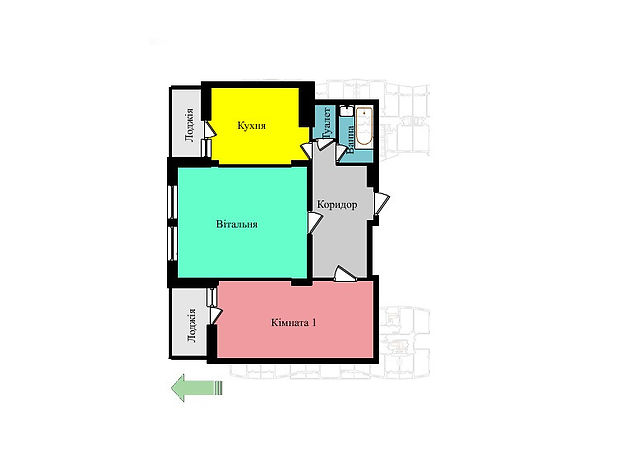 Продажа квартиры, 2 ком., Тернополь, р‑н.Дружба, Троллейбусная улица, дом 9Б