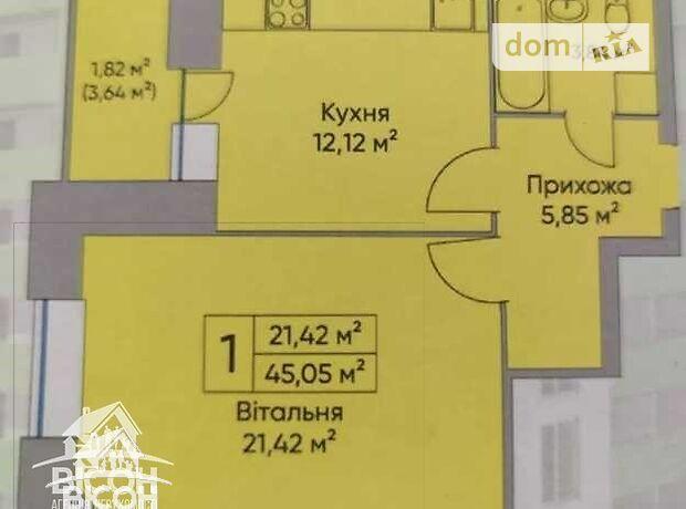 Продажа однокомнатной квартиры в Тернополе, на Братіслави район район Дружба фото 1