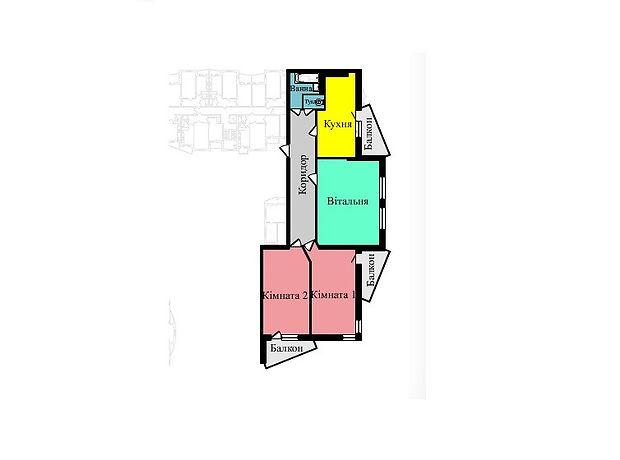 Продажа квартиры, 3 ком., Тернополь, р‑н.Дружба, Тролейбусна, дом 9В