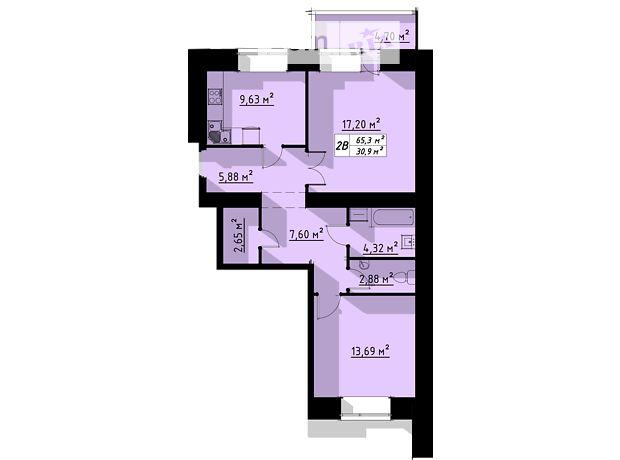 Продажа двухкомнатной квартиры в Тернополе, на ул. Бенцаля 7, район Кутковцы фото 1