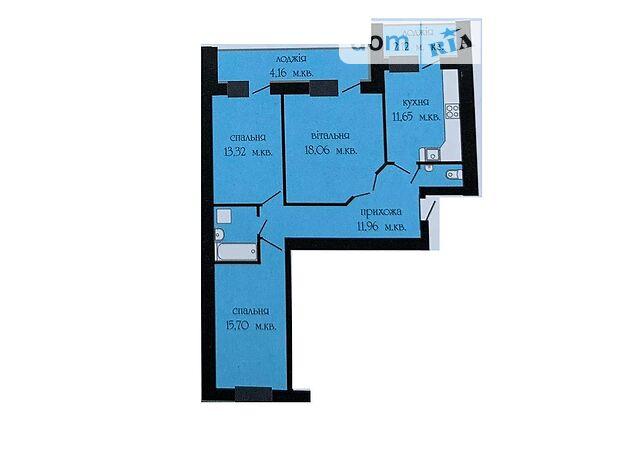 Продажа трехкомнатной квартиры в Тернополе, на ул. Головацкого район Северный фото 1