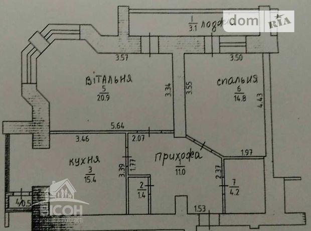 Продажа квартиры, 2 ком., Тернополь, р‑н.Пивничный, Головацкого улица