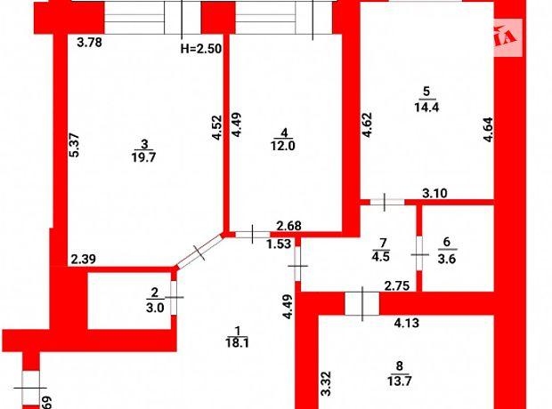 Продажа трехкомнатной квартиры в Тернополе, на ул. Головацкого 3б, район Пивничный фото 1