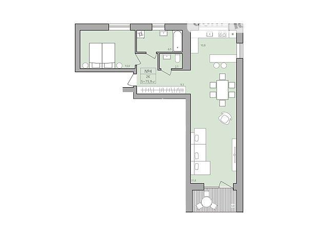 Продаж двокімнатної квартири в Тернополі на вул. Шептицького Андрія Митрополита (Петриків) фото 1
