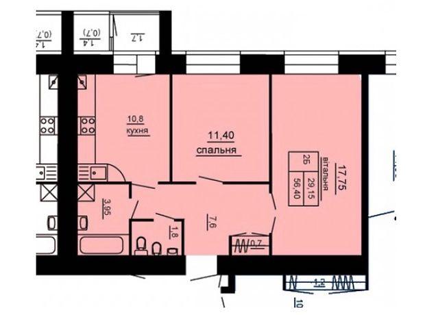 Продажа двухкомнатной квартиры в Тернополе, на просп. Бандеры Степана район Восточный фото 1