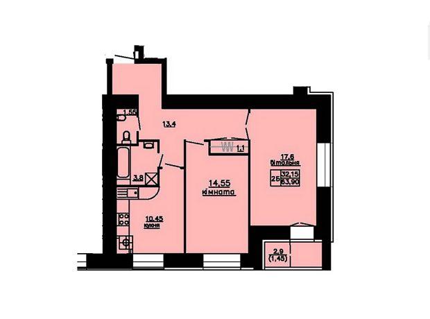 Продажа двухкомнатной квартиры в Тернополе, на Варшавський квартал 3, район Схидный фото 1