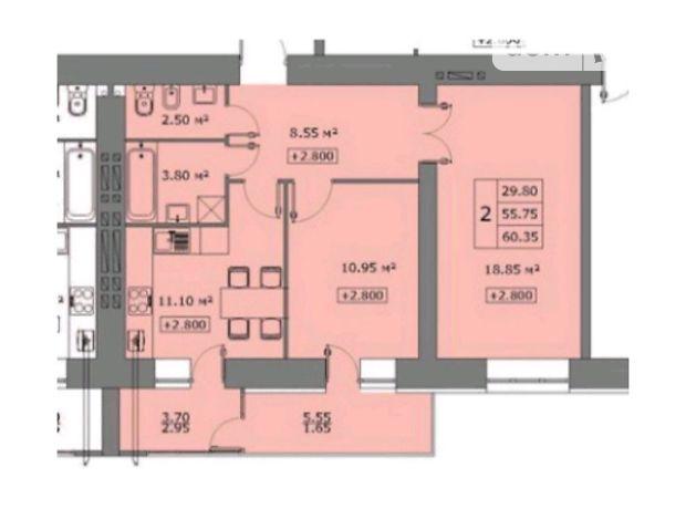 Продажа двухкомнатной квартиры в Тернополе, на ул. Лепкого Богдана район Солнечный фото 1