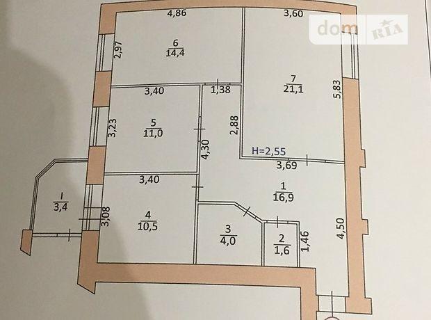 Продажа квартиры, 3 ком., Тернополь, р‑н.Солнечный, Киевская улица