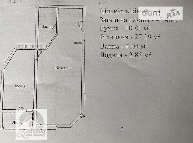 Продажа однокомнатной квартиры в Тернополе, район Солнечный фото 1