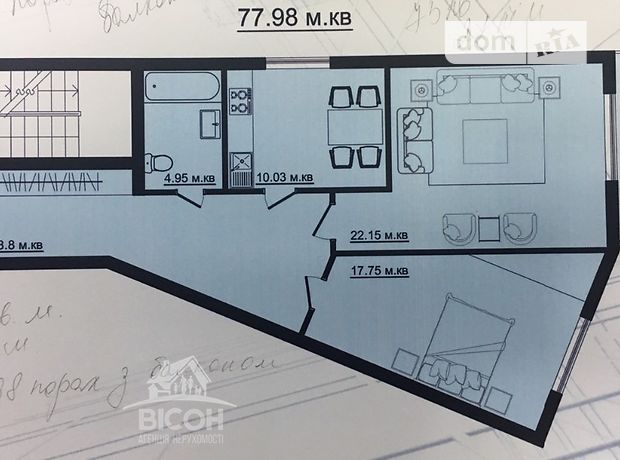 Продажа двухкомнатной квартиры в Тернополе, на ул. Веселая район Старый парк фото 2