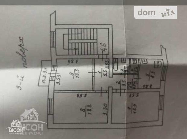 Продажа трехкомнатной квартиры в Тернополе, на ул. Руська район Центр фото 1