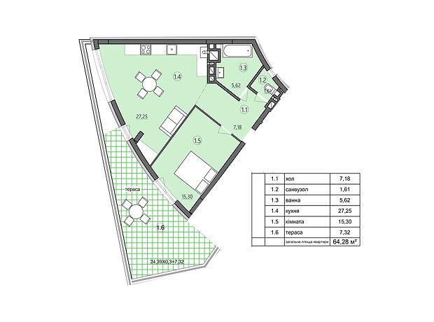 Продаж двокімнатної квартири в Тернополі район Центр фото 1