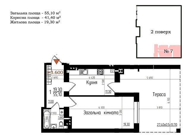 Продажа однокомнатной квартиры в Тернополе, на ул. Микулинецкая 30-А, район Великая Березовица фото 1