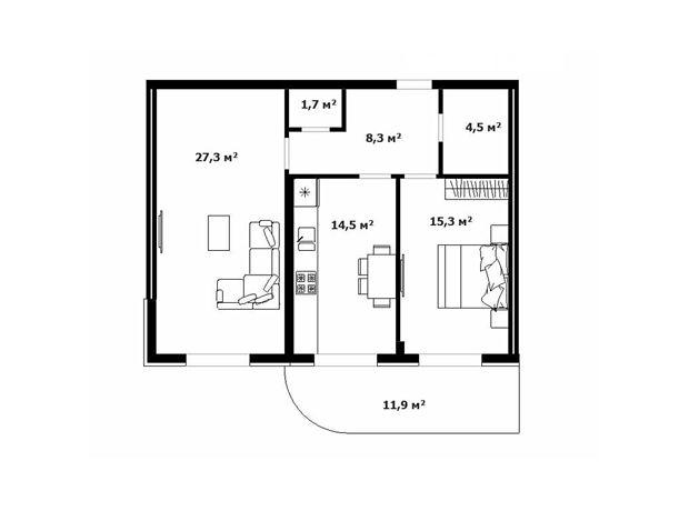 Продажа двухкомнатной квартиры в Ужгороде, на ул. Гойды район Центр фото 1