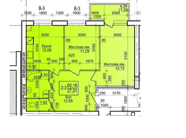 Продаж двокімнатної квартири в Василькові на Військове містечко 11 20 район Васильків фото 1