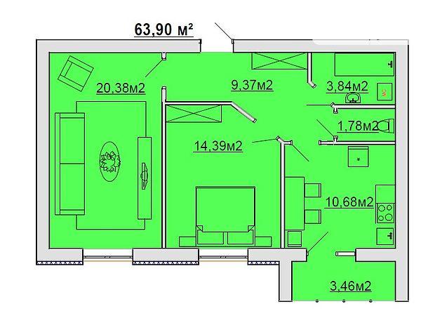 Продажа квартиры, 2 ком., Винница, р‑н.Барское шоссе, Одеська, дом 3