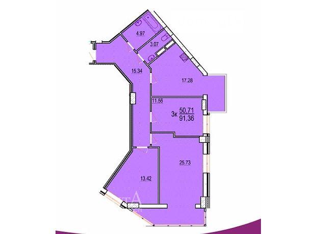 Продажа квартиры, 3 ком., Винница, р‑н.Славянка, Пирогова улица